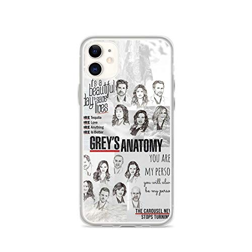 TEEDUYEN Compatible with iPhone 11 Case Grey's Anatomy Quote You're My Person Yang and Grey Pure Clear Phone Cases Cover