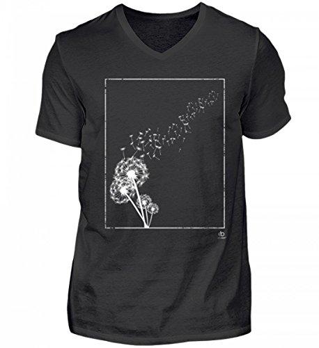 Dandelion Löwenzahn Pusteblume Natur Ruhe Frieden Wiese Leben Entspannung Geschenk - Herren V-Neck Shirt
