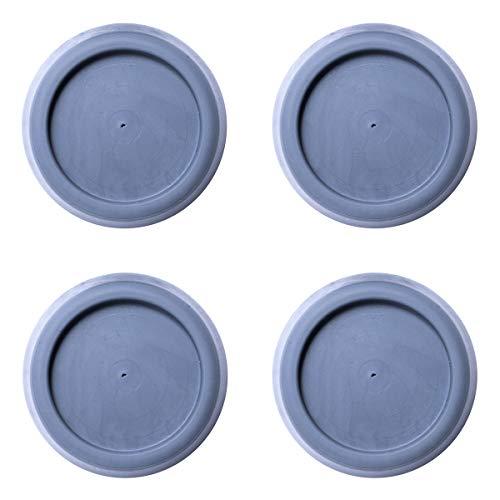 sossai® Pulsar - Waschmaschinen Schwingungsdämpfer | Vibrationsdämpfer| 4 Stück | Farbe: Grau | Material: Vollgummi | Anti-Vibration | rutschfest