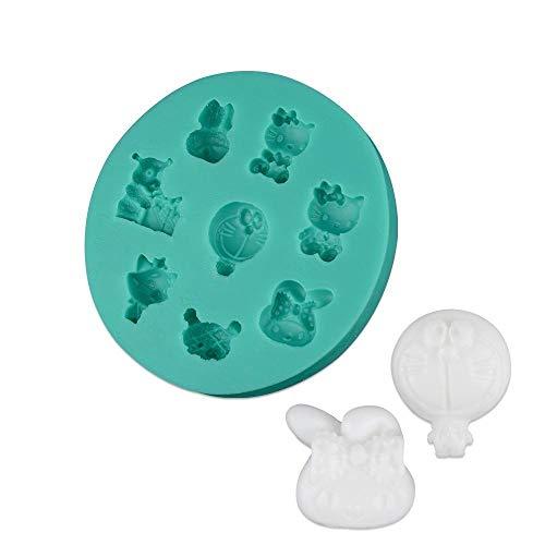 nobrand 1 Stück Silikon Kuchenform Jingle Katze Kombination Form Eiswürfelform Silikonform für die Herstellung von Jelly Pudding Keks Schokolade, wiederverwendbar