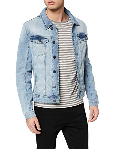 Blend Herren Outerwear Jeansjacke, Blau (Denim Light Blue 76200), Small (Herstellergröße: S)