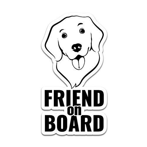 Baby and Friends on Board - Pegatina para coche, diseño de perro o gato de princesa, para coche, autobús, caravana, accesorio para coche R118 (perro)