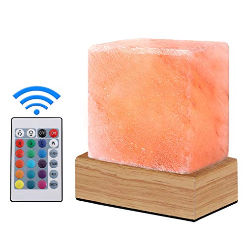 V.C.Formark USB Himalayan Salt Lamp, Release Negative Ion Purifying Air, 4 Modes and 16 Colors Adjustable Crystal Rock Salt lamp, Night Light, Gift Lamp, Used for Desk, Bedroom, Living Room and Gift