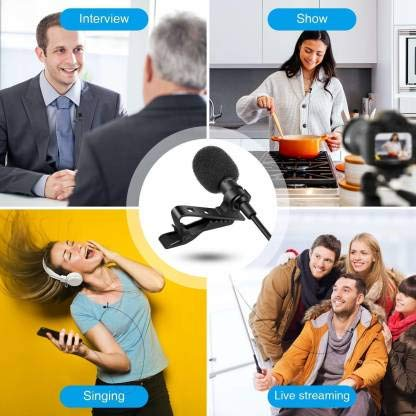 MOBONE Collor Mic for Mobile Video Recording Digital Noise Cancellation Clip Collar Mic Condenser for YouTube Video   Interviews   Lectures Travel Videos Mike for Mobile