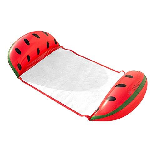 yueydengsun Hamaca flotante para piscina, hamaca inflable, piscina de verano, hamaca de agua, hamaca reclinable para frutas, colchón de aire flotante (arco iris)