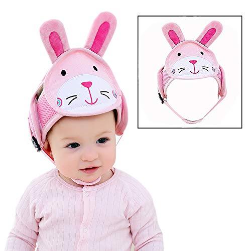 Xrten Baby Schutzhelm,Anti Kollision Baby Kopfschutz Hut,Verstellbare Kopfschutzmütze Baby Helm(Kaninchen)