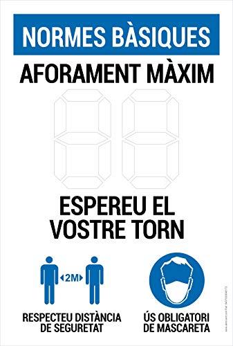 Cartel resistente PVC - AFORAMENT MAXIM personalitzable amb