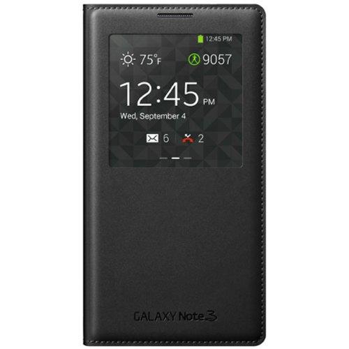 Samsung Galaxy Note 3 Case S View Flip Cover Folio - Black