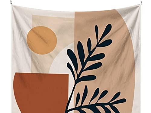 PPOU Tapiz de Tela de Pared de Tela de Fondo de Arte Simple y Fresco nórdico, Dormitorio, cabecera, decoración Salvaje A2 180x200cm