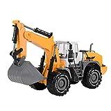 Juguete Camión Excavadora Ingeniería Vehículos DIY Vehículos de excavación Juguete Rodillo de camino Modelo Juguete Excavación Construcción Modelo de camión(Excavator)