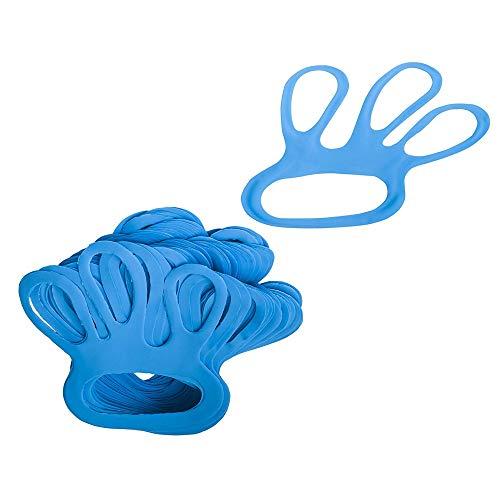TronicXL 10 STÜCK Profi Fingerlinge Fingerfix Handschuhspanner blau Stechschutzhandschuh Handschuhspanner Handschuh Anziehhilfe Anzieher Metzgerei Zubehör Metzger Schlachter Koch Köche Austattung