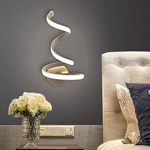 Lámpara de pared de luz led montar acrílico metal TV fondos Sconces lámparas bedside habitación habitación pared decoración artes espiral creativa WhiteLight