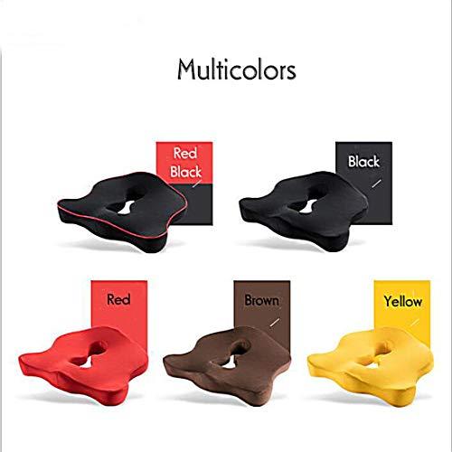 Premium-Memory-Foam-Sitzkissen Steißbein Orthopädische Auto-Büro-Stuhl-Kissen-Auflage für Steißbein Ischias Lower Back Pain Relief,D