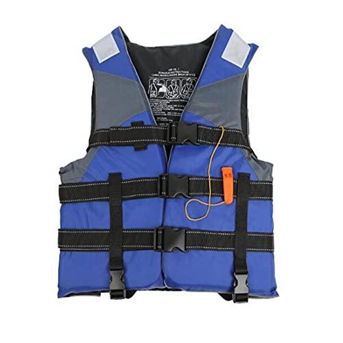 MTUPOC Chaleco Salvavidas para Deportes acuáticos para Adultos y niños, Chaleco Salvavidas Flotante con Correa de Seguridad Ajustable, Chaleco de Ayuda a la flotabilidad (Kid,Blue)