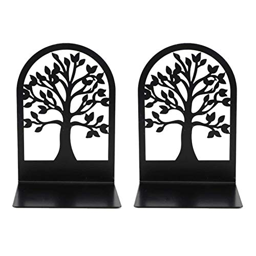 EZIZB Book Ends Metal Book Shelf, Tree Shaped Non-Skip Bookends, Decorative Bookends, Best Gift For Your Friends, Kids, Relatives, Readers