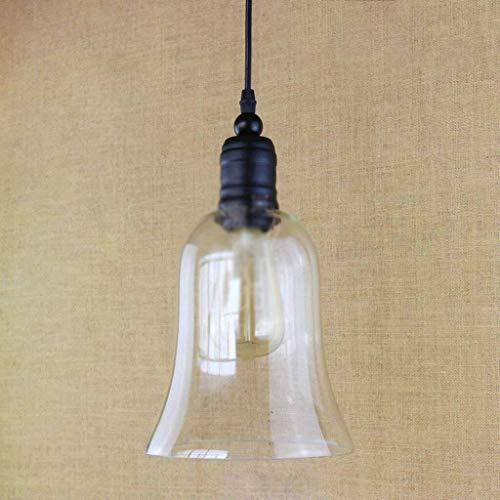 ZGQA-GQA Luces Pendientes, lámpara de Cristal - Personalidad Creativa nórdica Individual Art Cafe iluminación de la lámpara de la Vendimia Cabeza (Color : Awhite Light)