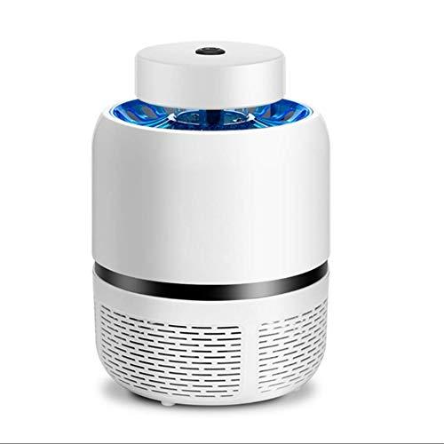 Elektrische Muggenmoordenaar Bug Zapper Lamp Veilig USB-Aangedreven Stralingsloze Muggen Zapper Met Ingebouwde Ventilator Insectenval Voor Binnen Buiten Slaapkamer Babykamer Keuken Kantoor,White