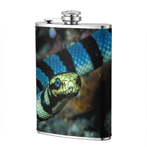XBYC Philippine Cobra Flasche für Alkohol und Trichter Edelstahlflasche zum Trinken von Alkohol, Whisky, Rum und Wodka 8oz
