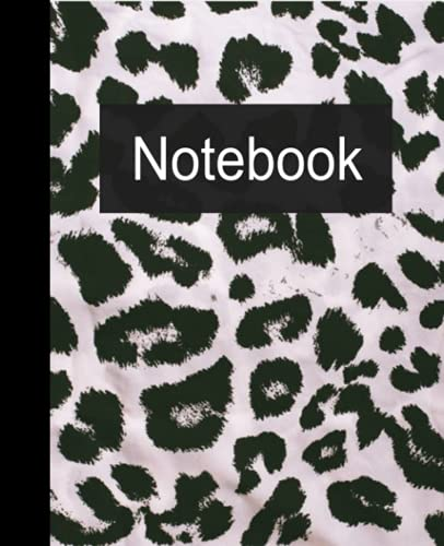 Cheetah Print Composition Notebook,100 college ruled paper