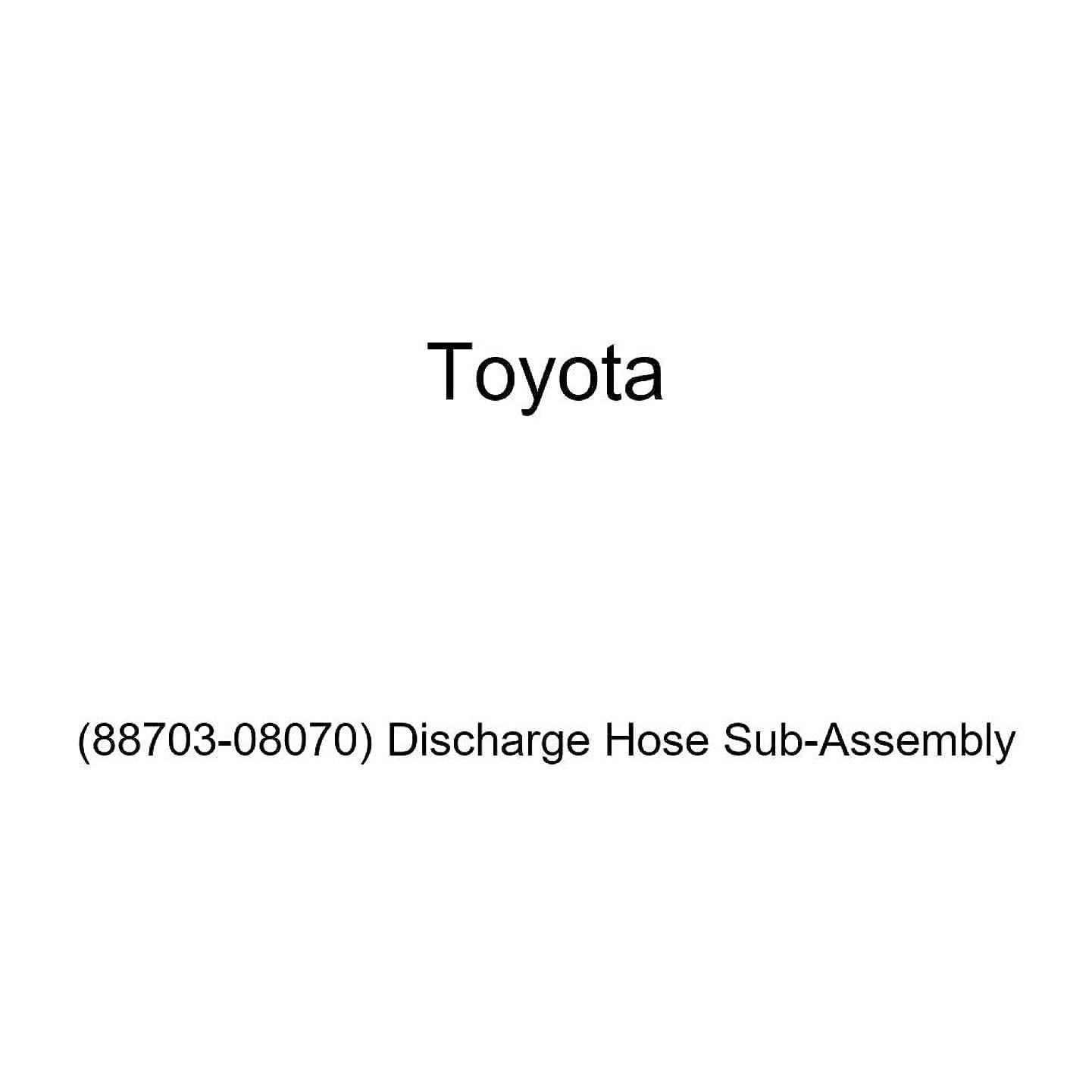Genuine Toyota (88703-08070) Discharge Hose Sub-Assembly