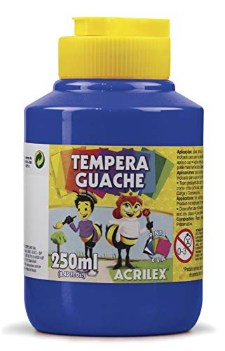 Tempera Guache 250 ml, Acrilex, 020250501, Azul Turquesa