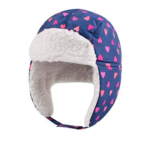 Winter Trapper Hat for Boys Girls Waterproof Warm Baby Toddler Ushanka Fleece Beanie Hats for 6M-6T (Sweet Heart, M(19.7