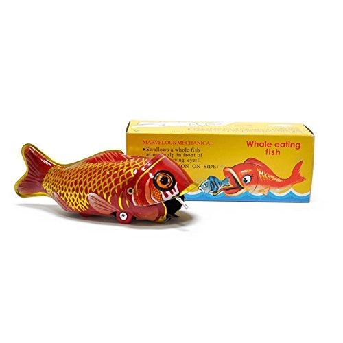 FANMEX - Fantastik - Ballena Come pez de hojalata diseño Retro - Juguetes de colección