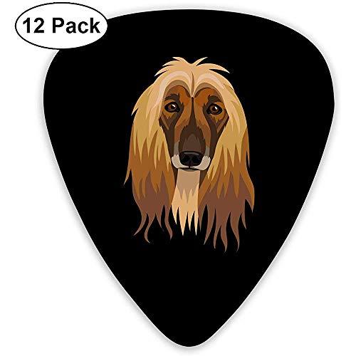 Gitarren Plektren Afghan Hound Custom Abs Gitarren Plektren für Bass,Elektro und Akustikgitarren 12er Pack