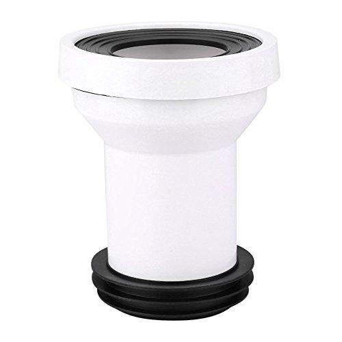 DEWIN WC Anschlussgarnitur - WC Anschlussrohr Kunststoff WC Kanalisation Abflussrohr Einbau Dichtung Anschluss Zubehör Anschlussteil