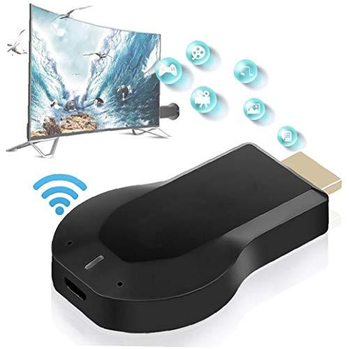 Dispositivo de Pantalla Receptor inalámbrico Wi-Fi HDMI Pantalla Mirroring Adaptador para Android/iPhone/iPad/Windows/Miracast/Mac OS para TV/proyector/Monitor-Negro, Proyector