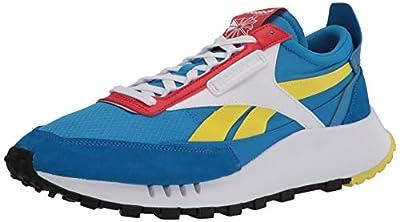 Reebok unisex adult Classic Legacy Sneaker, Dynamic Blue/Horizon Blue/Instinct Red, 7 Women 5.5 Men US