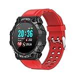 Smart Montre Sports de plein air intelligent Montre Podomètre montre pas à pas FD68 Fitness Tracker Red Watch