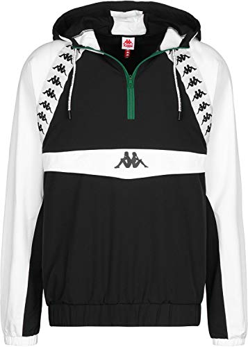 Kappa - Chaqueta - Authentic Bakit - Negro/Blanco (S)