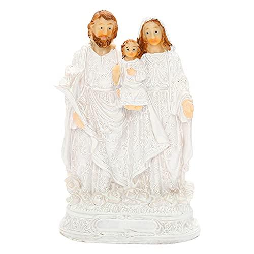 Fenteer Estatua de la Familia Religiosa, Escritorio para el hogar, estatuilla para familias, estantería, estantería para Libros, gabinete de Vino, Soporte
