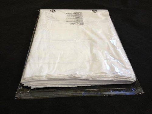 100 buste in plastica per indumenti/magliette, trasparenti, 30,4 x 38,1 cm