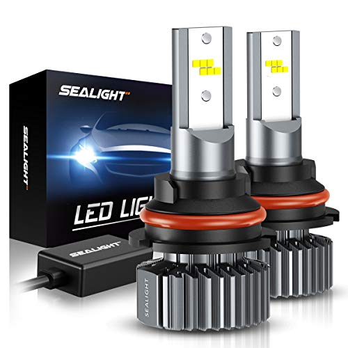 SEALIGHT Scoparc S1 9004/HB1 LED Headlight Bulbs, 60W 12000LM High Beam Low Beam, 6000K Bright White, Halogen Replacement, Quick Installation