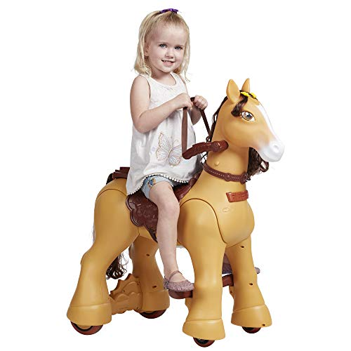 ECR4Kids My Wild Pony, Motorized Ride-On Horse for Kids, Walking Horse Toy with Wheels for Boys and Girls,12V Battery Powered Electric