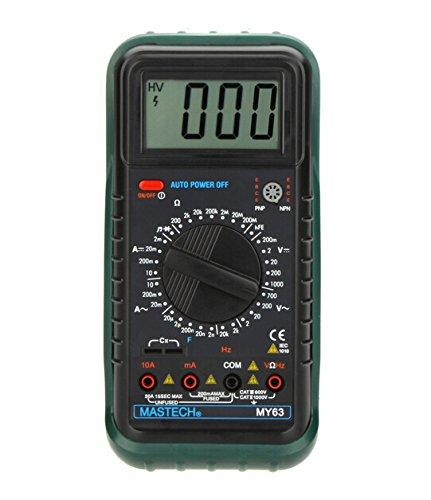 MASTECH my63portátil DMM Multímetro Digital w/Frecuencia de capacitancia y prueba hFE