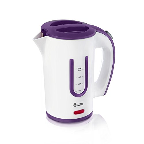 Swan SK27010N Dual Voltage Fast Boil Lightweight & Compact Travel Kettle with Two Tea Cups, Plastic,...