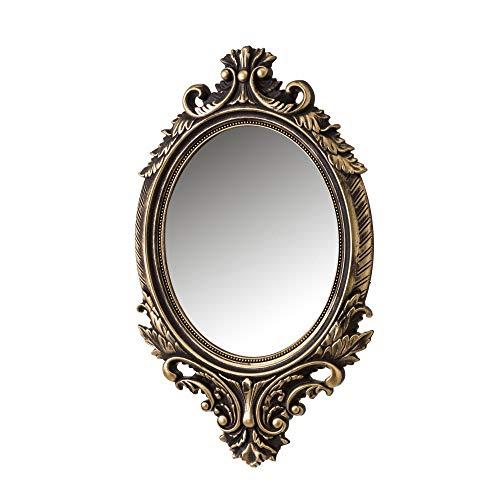 Espejo Cornucopia Dorado de PVC clásico para la Entrada de