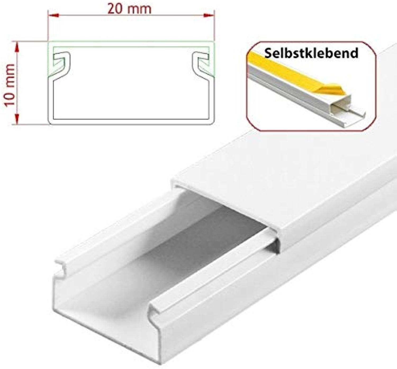 StilBest® 80m Kabelkanal [L x B x H H H 200x2,0x1,0 cm, PVC, Selbstklebend, weiß] Kabeldurchführungssystem   Kabelleiste   Kabelschlauch   Kabelrohr B07PPJ4YRY   Attraktive Mode  32cd92