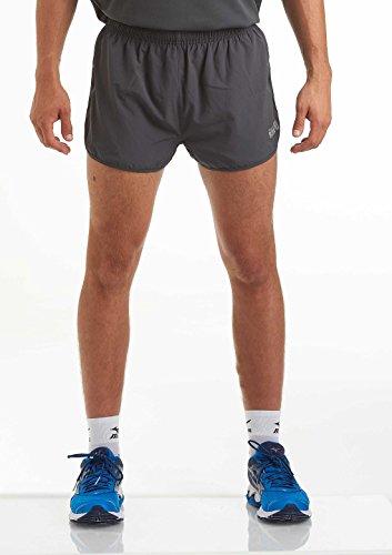 Time To Run Heren Split Pace Spirit Actief Hardlopen/Gym/Atletiek Shorts met Sneldrogende Liner & Ritszak
