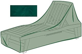 Plow & Hearth Outdoor Furniture All-Weather Cover for Long Chaise - Green…