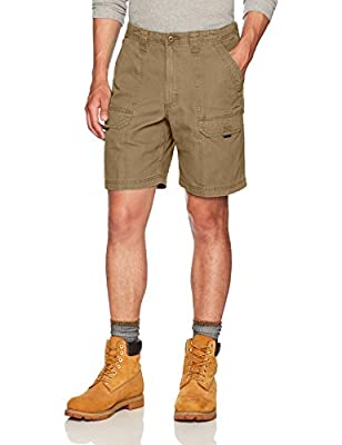 Wrangler Authentics Men's Canvas Utility Hiker Short, Nutmeg, 34
