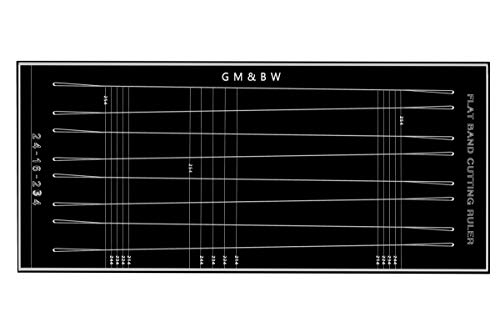 GM&BW Customized Tapered Flat Bands Cutting Ruler-Ideal Accessory to Make a More Professional Slingshot Catapult for Hunting or Target Shooting-Trapezoids of X-Y-Z mm