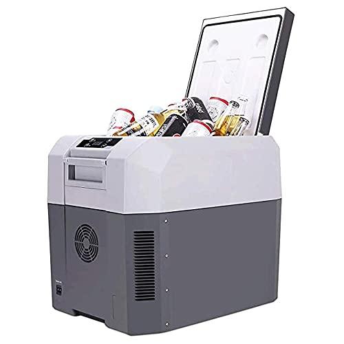 Nevera Eléctrica Portátil Refrigerador portátil compacto con compresor, refrigerador eléctrico congelador, refrigerador Mini nevera AC 110V / DC 12V24V Freezer verdadero para coche, hogar, camping, ca