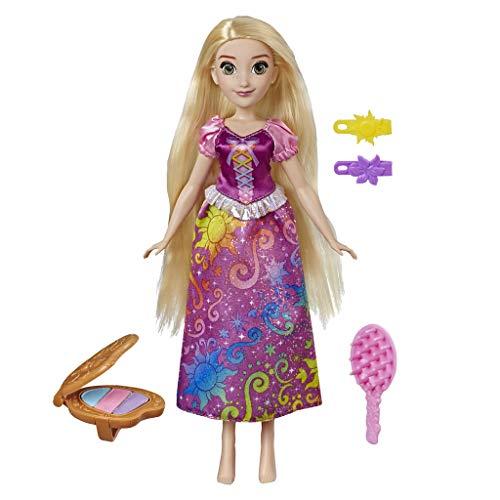 Hasbro Disney Princess - Rainbow Rapunzel Capelli per Giocare Stile Arcobaleno, Multicolore, E4646EU4