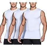 (テスラ)TESLA スリーブレス ラウンドネック スポーツシャツ 3枚セット [UVカット・吸汗速乾] コンプレッションウェア パワーストレッチ アンダーウェア MUA25-WHZ_S