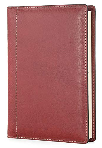 Agenda giornaliera 2020 A5 (15 x 21cm), 12 mesi planner a righe Handmade in Italy bordeaux