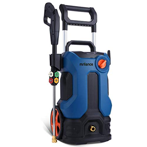 mrliance Electric Pressure Washer, 3800PSI 2.8GPM Power Washer, 1800W High Pressure Washer Cleaner with Spray Gun 4 nozzles Ideal for Cars Fences Patios Garden Cleaning, Blue